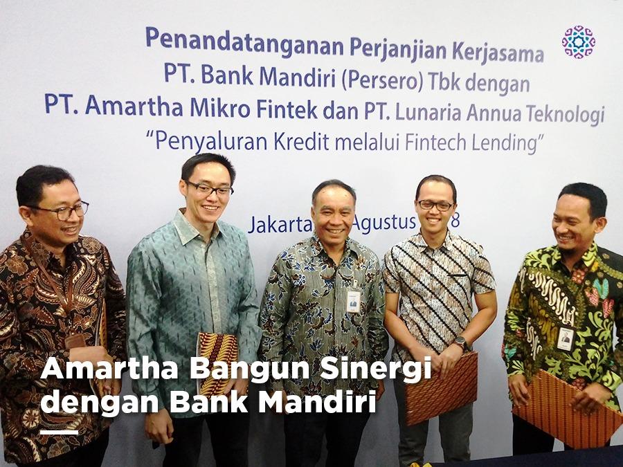 Amartha Bangun Sinergi dengan Bank Mandiri