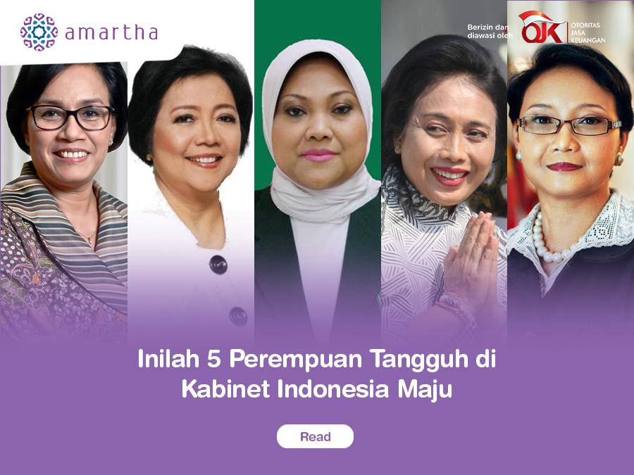 5 Perempuan Tangguh di Kabinet Indonesia Maju