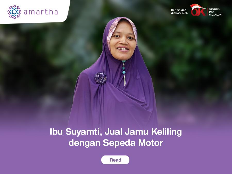 Ibu Suyamti, Jual Jamu Keliling dengan Sepeda Motor