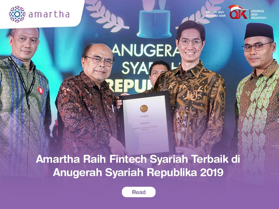 Amartha Raih Fintech Syariah Terbaik di Anugerah Syariah Republika 2019